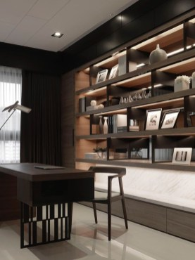Charming Home Office Cabinet Design Ideas For Easy Storage 16