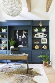 Charming Home Office Cabinet Design Ideas For Easy Storage 29