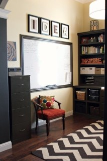 Charming Home Office Cabinet Design Ideas For Easy Storage 34