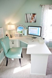 Charming Home Office Cabinet Design Ideas For Easy Storage 39
