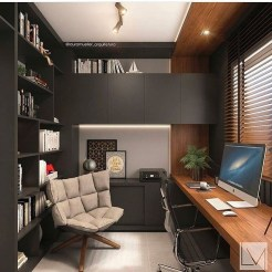 Charming Home Office Cabinet Design Ideas For Easy Storage 48