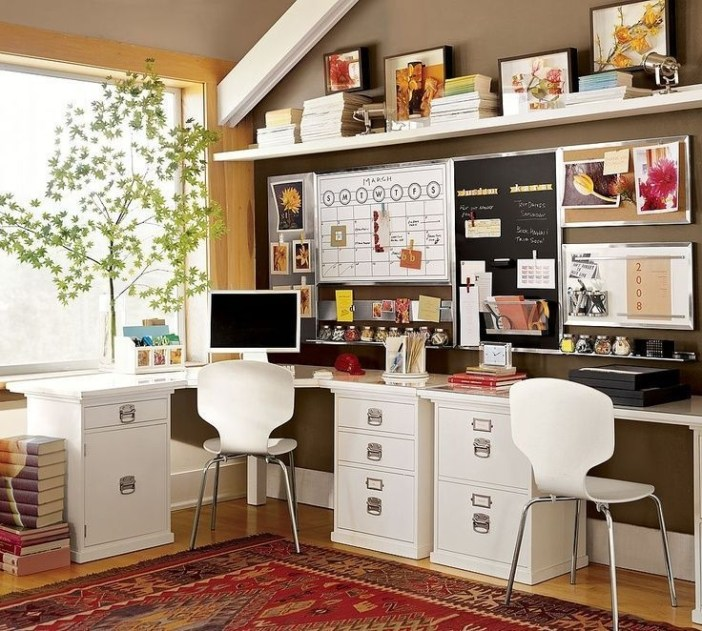 Charming Home Office Cabinet Design Ideas For Easy Storage 50