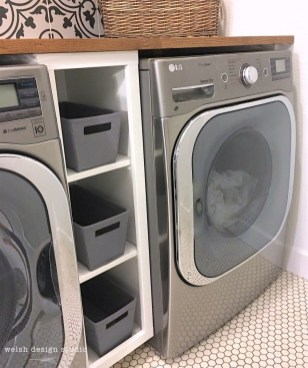Cozy Laundry Room Storage Design Ideas 09