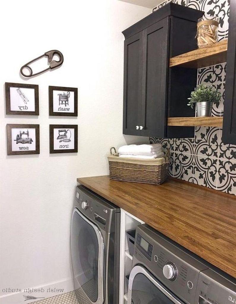 Cozy Laundry Room Storage Design Ideas 12