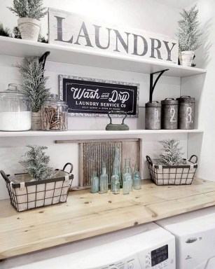 Fabulous Functional Laundry Room Decoration Ideas On A Budget 26