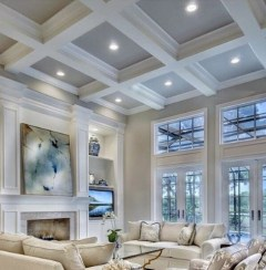 Gorgeous Ceiling Design Ideas For Living Room To Apply Asap 02