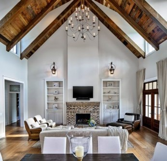Gorgeous Ceiling Design Ideas For Living Room To Apply Asap 24