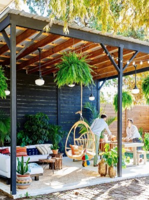 Latest Home Patio Design With Hanging Plants 08