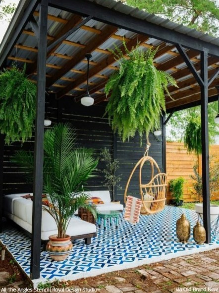 Latest Home Patio Design With Hanging Plants 20
