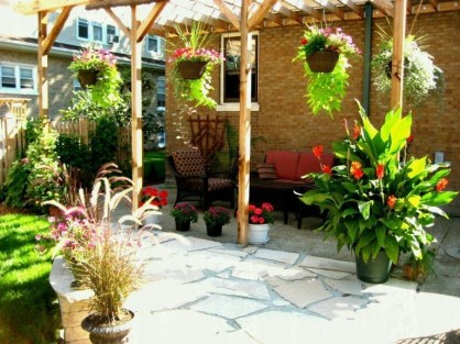 Latest Home Patio Design With Hanging Plants 37