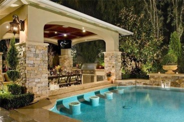 Perfect Backyard Home Design Ideas With Swimming Pool 04