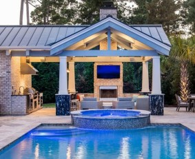 Perfect Backyard Home Design Ideas With Swimming Pool 35