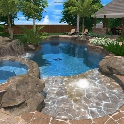 Perfect Backyard Home Design Ideas With Swimming Pool 40
