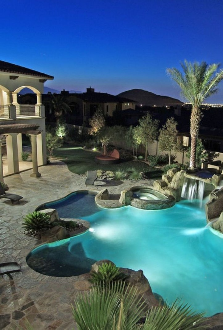 Perfect Backyard Home Design Ideas With Swimming Pool 43