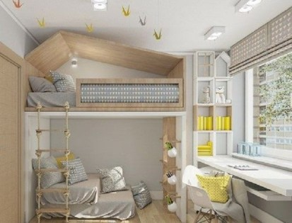 Unusual Children Bedroom Decoration Ideas That Look Cool 43