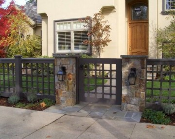 Wonderful Front Yard Ideas With Contemporary Fence 16