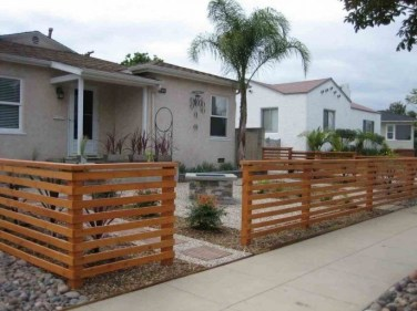 Wonderful Front Yard Ideas With Contemporary Fence 29
