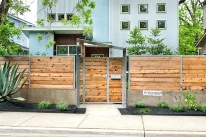 Wonderful Front Yard Ideas With Contemporary Fence 39