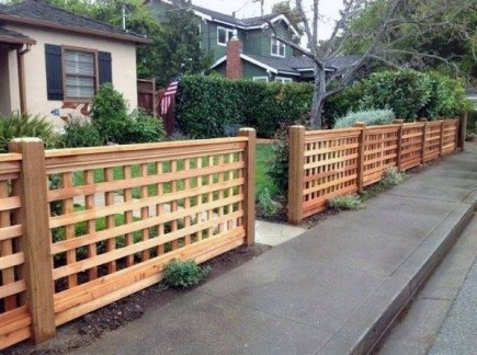 Wonderful Front Yard Ideas With Contemporary Fence 48