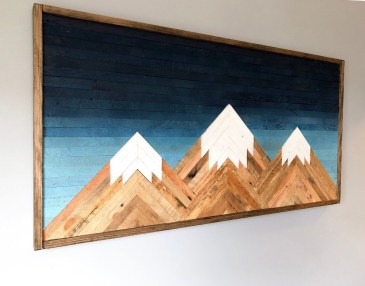 Chic Diy Pallet Wall Art Ideas To Try 28
