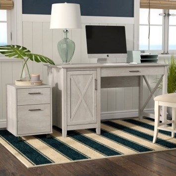 Creative Farmhouse Desk Ideas For The Home Office To Try 23