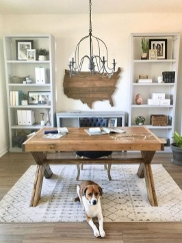 Creative Farmhouse Desk Ideas For The Home Office To Try 26