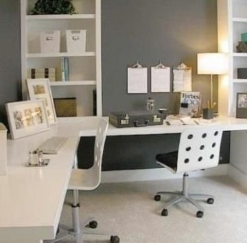 Creative Farmhouse Desk Ideas For The Home Office To Try 38