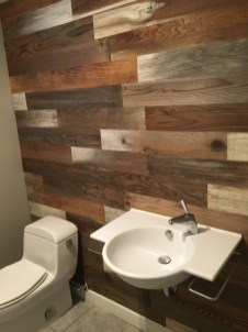 Elegant Bathroom Remodel Ideas With Stikwood That Looks Cool 13