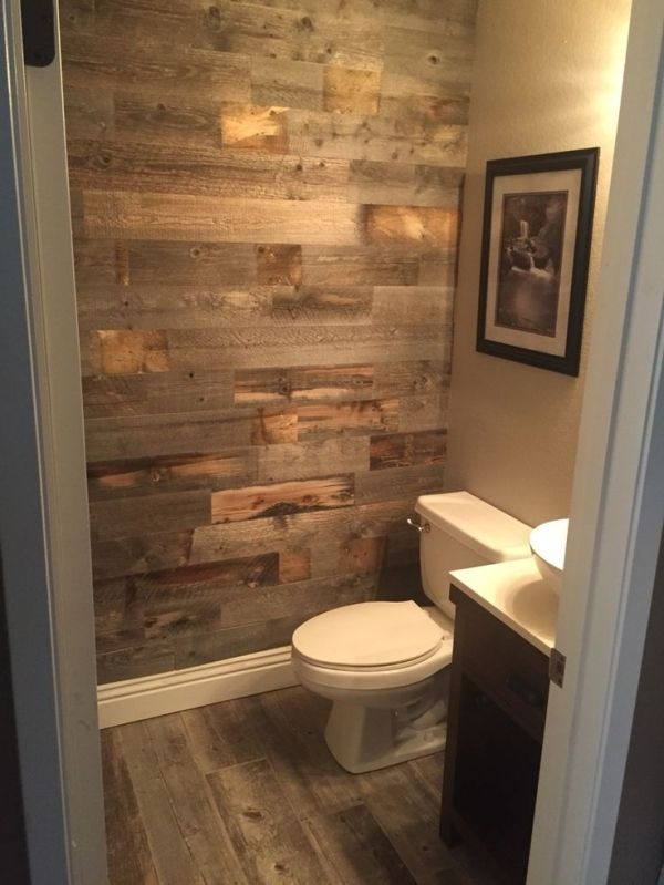 Elegant Bathroom Remodel Ideas With Stikwood That Looks Cool 26
