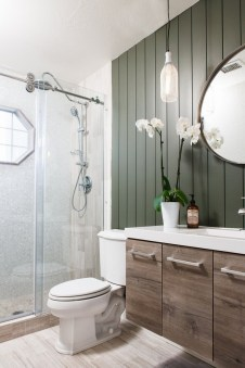 Elegant Bathroom Remodel Ideas With Stikwood That Looks Cool 31