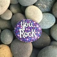 Fascinating Painted Rocks Quotes Design Ideas 19