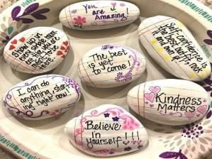 Fascinating Painted Rocks Quotes Design Ideas 46