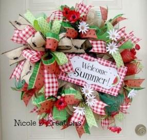 Pretty Summer Wreaths Decor Ideas That Looks Cool 02
