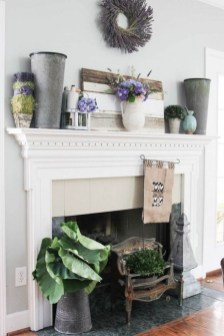 Unique Summer Mantel Decorating Ideas To Try 26
