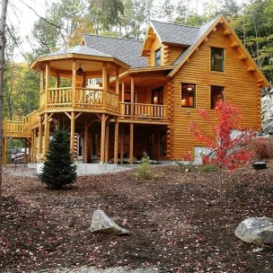 Wonderful Homes Plans Design Ideas With Log Cabin 15