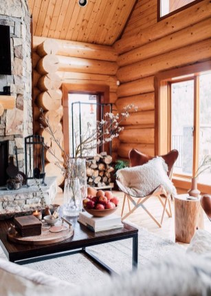 Wonderful Homes Plans Design Ideas With Log Cabin 23