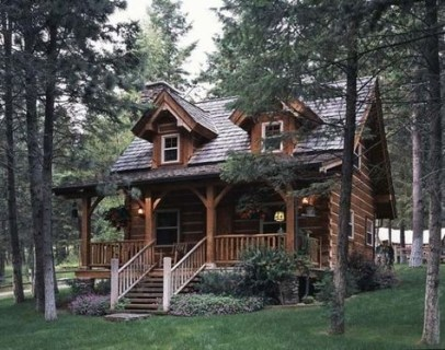 Wonderful Homes Plans Design Ideas With Log Cabin 33