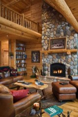 Wonderful Homes Plans Design Ideas With Log Cabin 37