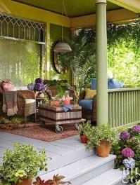 Adorable Green Porch Design Ideas For You 11