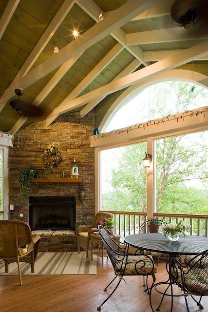 Adorable Green Porch Design Ideas For You 22