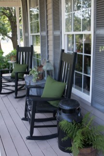 Adorable Green Porch Design Ideas For You 27