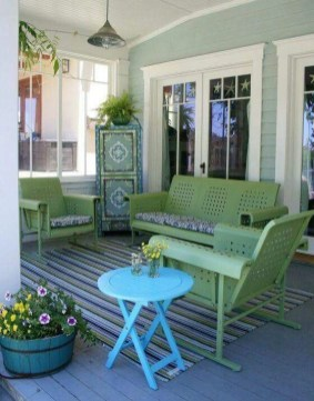 Adorable Green Porch Design Ideas For You 30