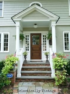 Adorable Green Porch Design Ideas For You 38