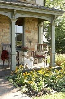 Adorable Green Porch Design Ideas For You 42