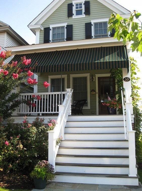 Adorable Green Porch Design Ideas For You 49