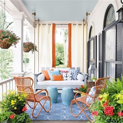 Best Colorful Porch Design Ideas That Looks Cool 18