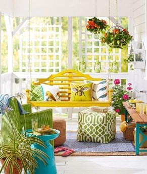 Best Colorful Porch Design Ideas That Looks Cool 45