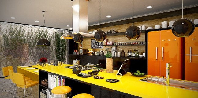 Best Yellow Accent Kitchens Ideas For You 17