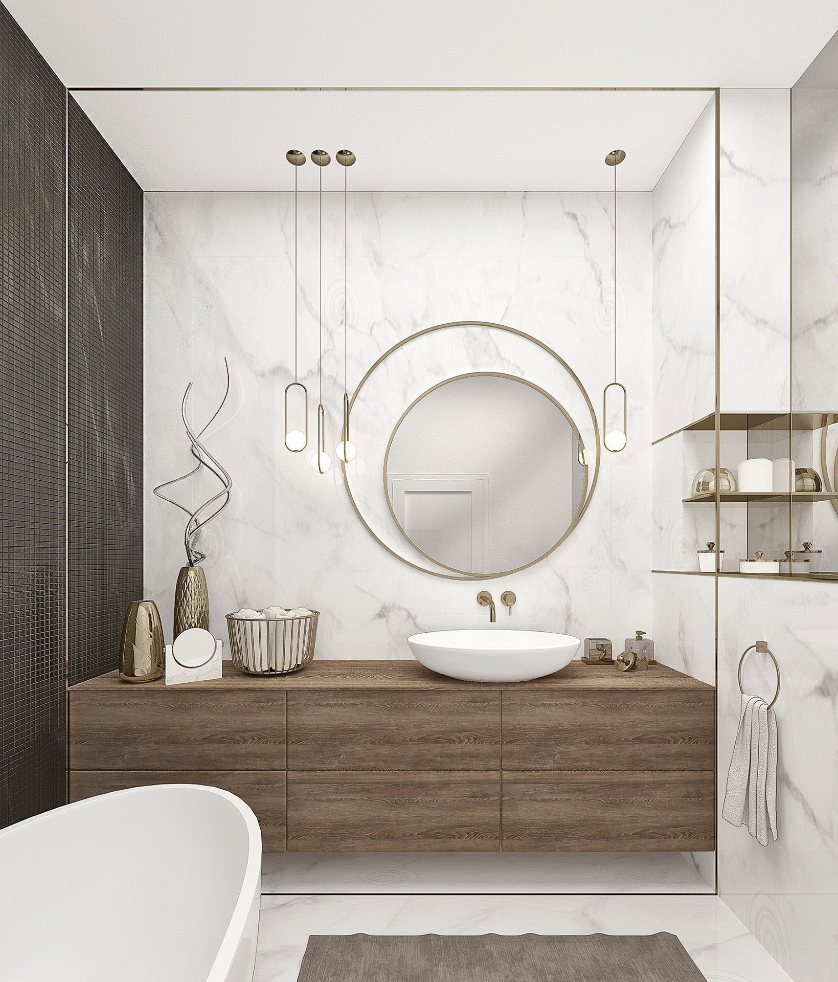 Excellent Wooden Bathroom Designs Ideas To Try 36