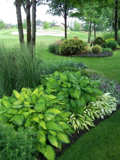 Newest Green Grass Design Ideas For Front Yard Garden 40